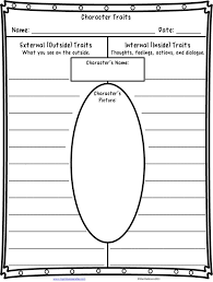 free character traits worksheet through for book remendations for teaching character traits