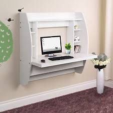 floating office desk. wall mount computer pc desk floating home office table shelves storage folding d