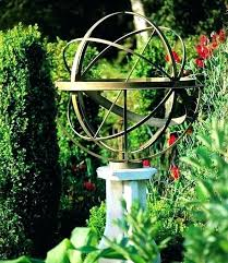 armillary sphere garden on pedestal lighted outdoor bronze