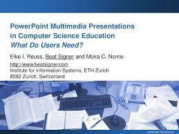 powerpoint multimedia presentations in computer science education wh