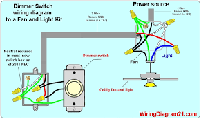 ceiling fan dimmer switch light kit wiring diagram