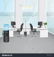 graphic design office. Office Large-size Room Stock Vectors Vector Clip Art Shutterstock Modern Illustration Graphic Design