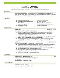 Resume Templates For Teachers Teachers Resume Format Teacher New