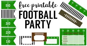 Cheap Super Bowl Decorations Free Printable Football Decorations Football Party Paper Trail 17