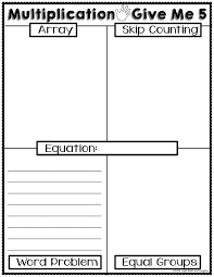Light Bulbs and Laughter - Multiplication Give Me 5 Worksheet and ...