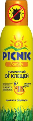 <b>Picnic Family</b> - <b>средство акарицидное</b> Super защита от клещей ...