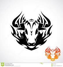 племенная татуировка быка иллюстрация вектора иллюстрации