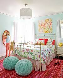 blue and pink girl s room