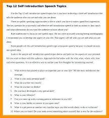Introduction Speech Sample Graduation Example Introducing Myself ...