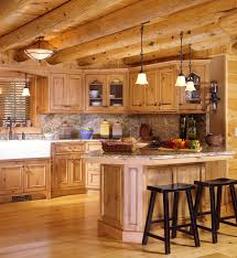 Home Kitchen Top Log Home Kitchen Design Ideas 93 For Decor With In Decorating