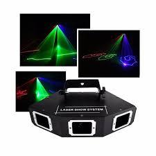 aucd dmx 3 lens rgb full color beam optical network laser light home party dj ktv