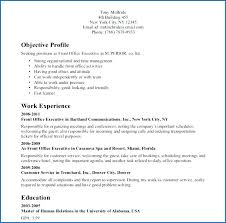 Sample Resume For Back Office Executive Back Executive Resume Format