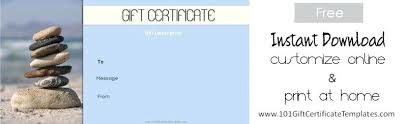 Best Spa And Saloon Gift Certificate Templates Images Blank