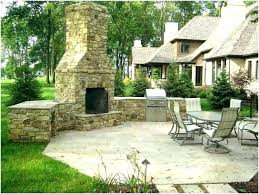 image of modern outdoor fireplace ideas