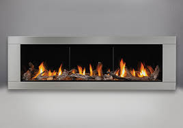 driftwood a kit mirro flame porcelain reflective radiant panels premium 4 sided surround brushed stainless steel finish