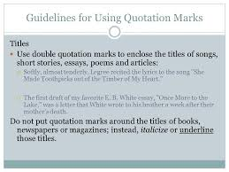 quotation marks advice and practice ppt  guidelines for using quotation marks