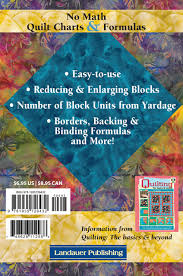 No Math Quilt Charts Formulas Quick Easy Accurate Carry