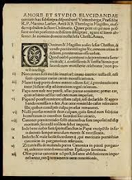 ninety five theses  single pamphlet page decorative initial capital letter
