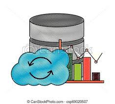 Chart On Cloud Computing Cloud Computing Database Center Statistics Chart