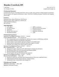 Critical Care Nurse Job Description Resume
