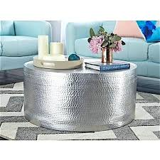 silver hammered coffee table