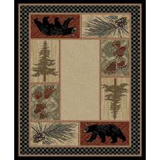 big timber bear area rug