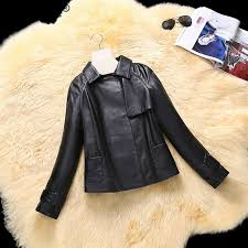 great tcyeek women genuine leather coat luxury leather jackets natural sheepskin coats female 2019 spring