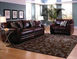 leather area rugs living room with brown sofa ideas recycled