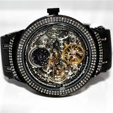 joe rodeo master mens watch automatic black pvd skeleton dial 2 5 zoom