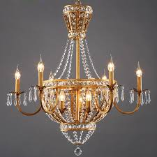 extraordinary french country chandeliers antique french chandelier iron gold with crystal and 8 light