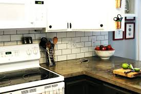 thin tile backsplash kitchen brick ...