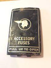 vintage fuse box vintage chieftain pontiac fuse box cover accessory