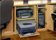 see interesting contemporary home office designing idea with cabinet cabinetry closet cupboard built in desk door secretary shelf shelve shelving alcove contemporary home office