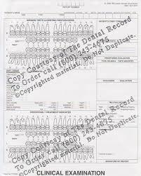 Dental Exam Charting Forms Clinical Examination
