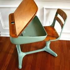 wooden school desk and chair. School Chairs With Desk Antique Metal Chair Old Office Elementary . Wooden And