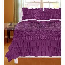 beautiful purple 1000tc ruffle duvet cover