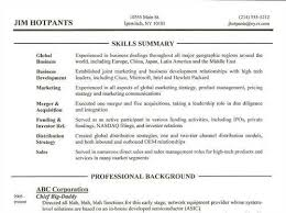 summary of qualifications examples for resume