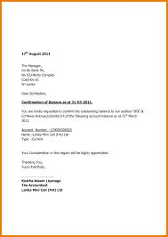 Letter Confirmation Letter
