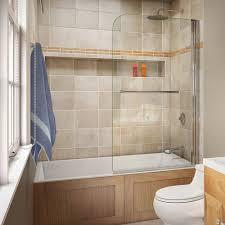 DreamLine Aqua Swing 34 in. x 58 in. Semi-Framed Hinge Tub Door in ...