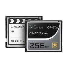 CINEDISKPRO CFAST 2.0 MEMORY CARD 4K RAW 256GB