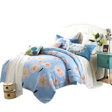 corduroy duvet cover queen blue fl bedding set queen twin double size100 cotton duvet cover bedding