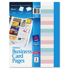Avery Non Stick Tabbed Business Card Holder Pages Walmartcom