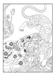 Small Picture Here is a coloring page with a tiger by Cline From the gallery