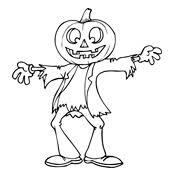 Kleurplaat Halloween 2725