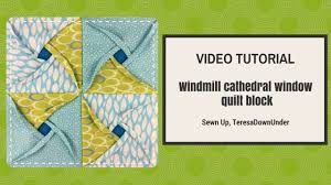 Video tutorial: Windmill cathedral window quilt block - YouTube & Video tutorial: Windmill cathedral window quilt block Adamdwight.com