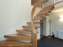 Stairs, Stair Banisters Banister Spindles Floating Arched Wooden Stair With  Arched Wood Handrail Stainless Steel ...