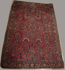 painted sarouk area rug merrill s auction plastic protector alexander home rugs and furniture memory foam mission style dining room company living spaces