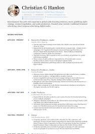 Producer Resume Samples Templates Visualcv
