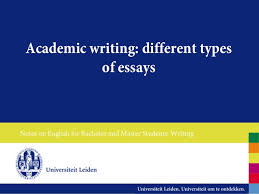 different types of essays academic writing different types of essaysnotes on english for bachelor and master students writing the expository essay