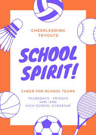 Rally Templates Rally Day Flyer Template Customize 29 Cheerleading Poster Templates